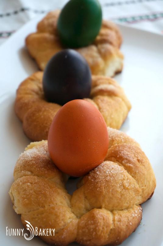 Домашен Великденски козунак - мини гевреци