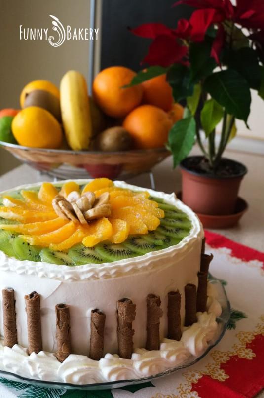 Цитрусова – плодова торта - вертикална