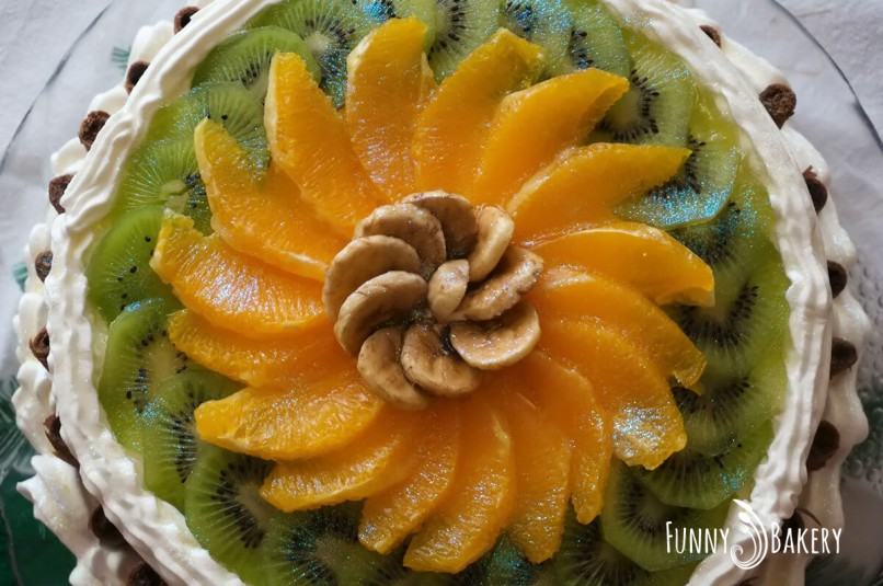 Цитрусова – плодова торта - отгоре