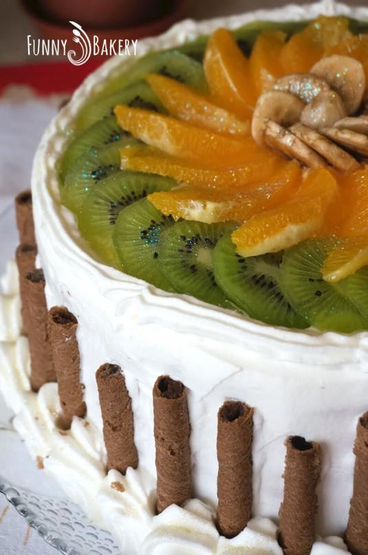 Цитрусова – плодова торта - близък профил