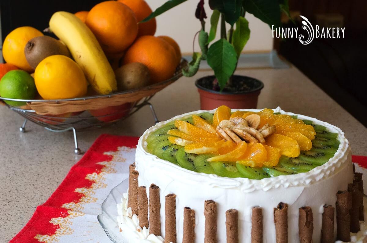 Цитрусова – плодова торта - зимна приказка