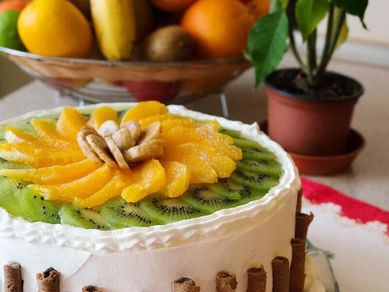 Цитрусова – плодова торта - превю