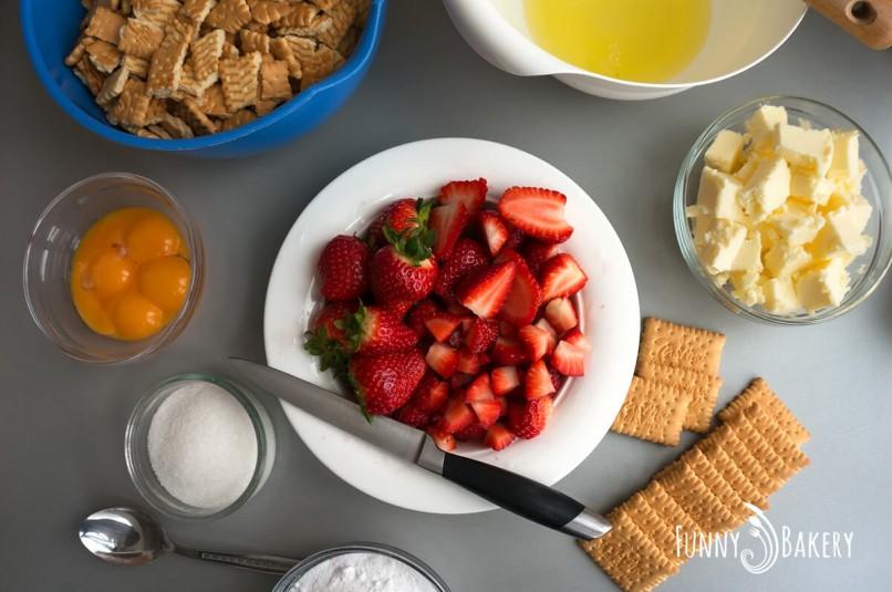 Бисквитена торта с плодове - продукти