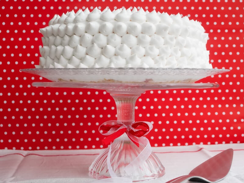 Бисквитена торта с плодове - превю