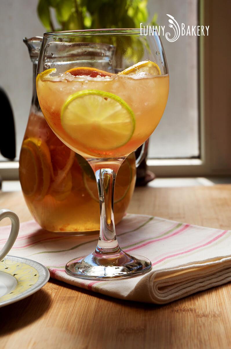 Сироп от бъз с цитруси - чаша, бял