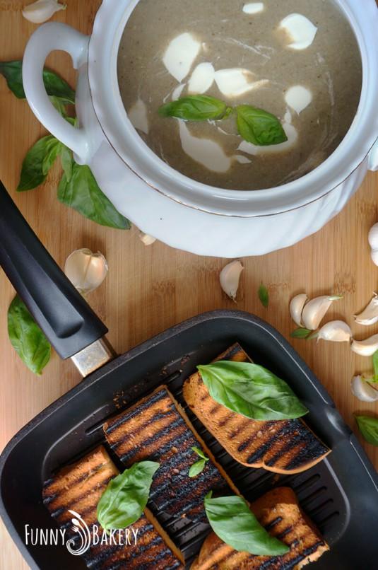 Крем супа от гъби - с тиган