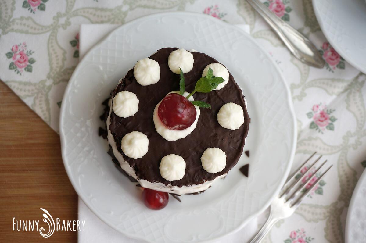 Шоколадова торта с череши - 007