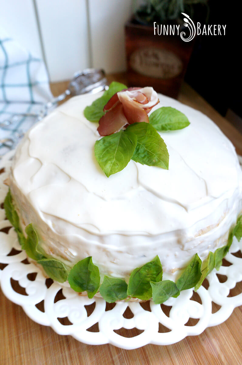 Солена палачинкова торта 08