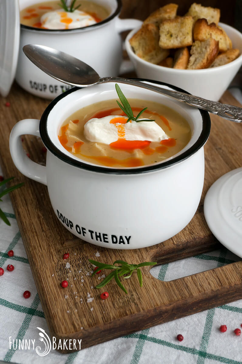 Картофена крем супа с пилешко месо 001