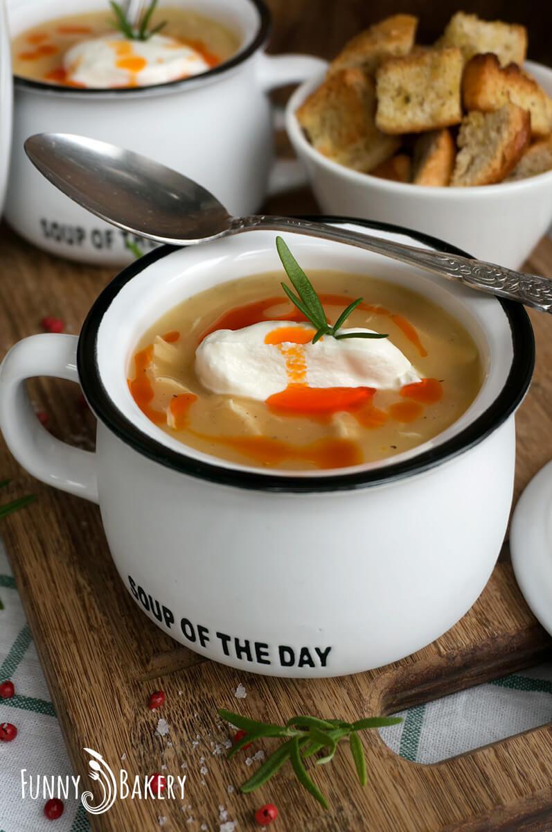 Картофена крем супа с пилешко месо 003
