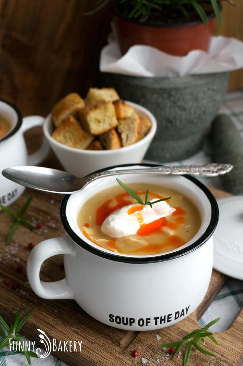 Картофена крем супа с пилешко месо 004