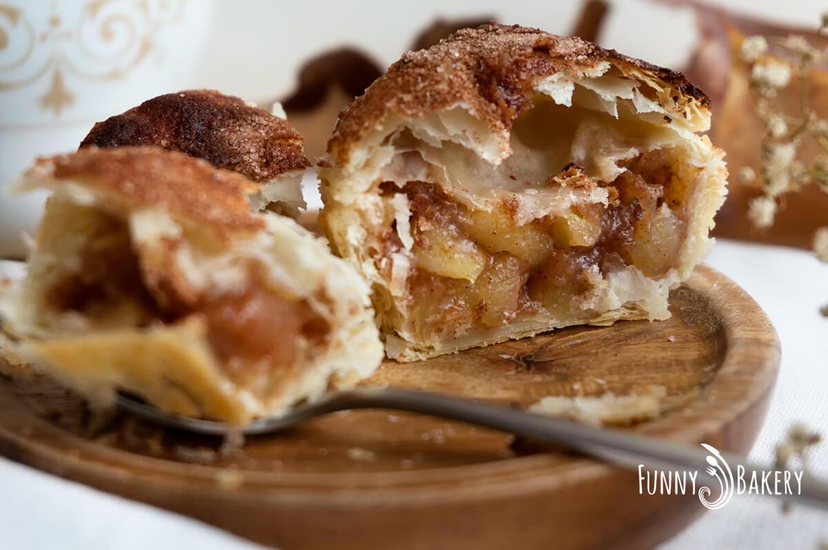 Мини ябълкови пайове с бутер тесто 003
