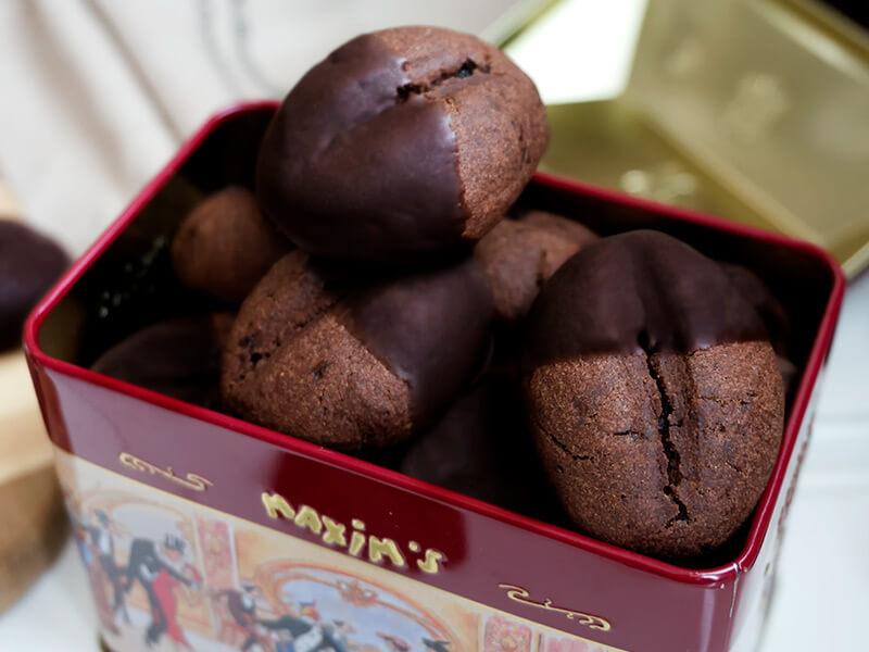 Какаови бисквити с кафе превю