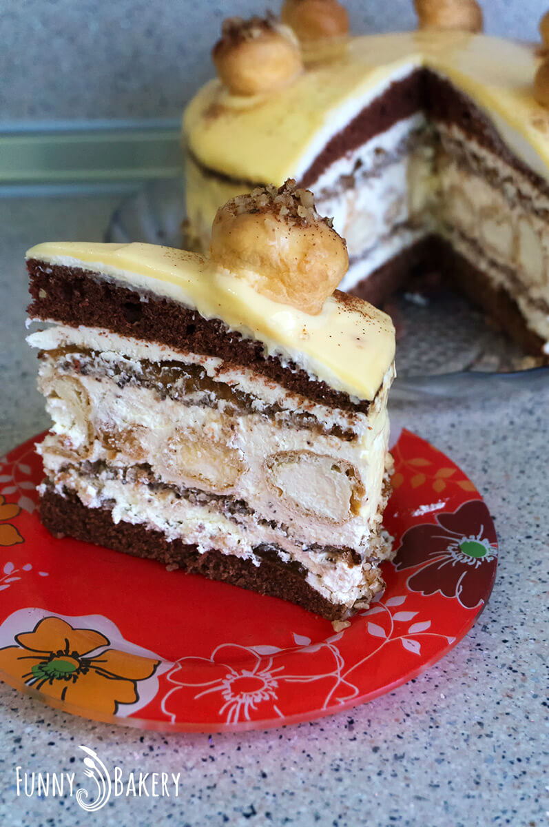 Еклерова торта с ябълки и канела_002