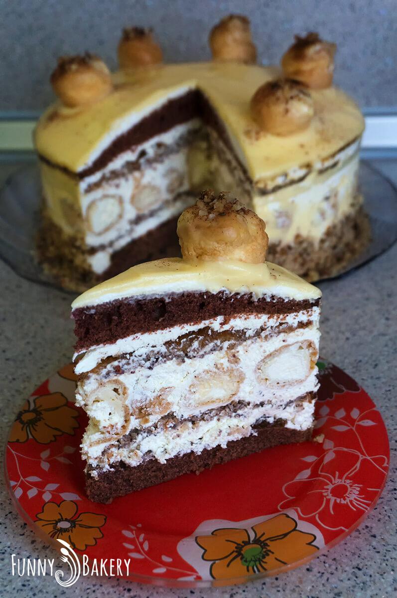 Еклерова торта с ябълки и канела_003